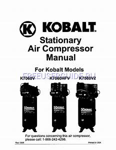 User U0026 39 S Manual For Air Compressor Kobalt K7060v  Download Free