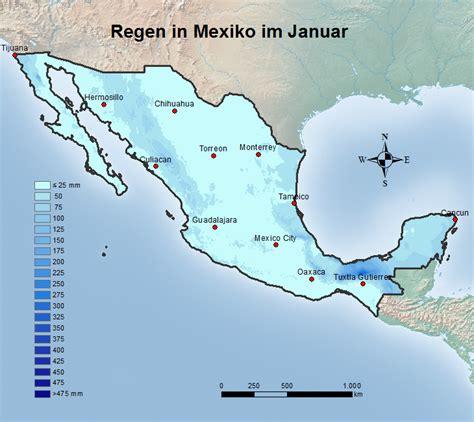 mexiko temperatur regen wetter im januar