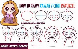 How to Draw Kawaii Chibi Rapunzel from Disney's Tangled in ...
