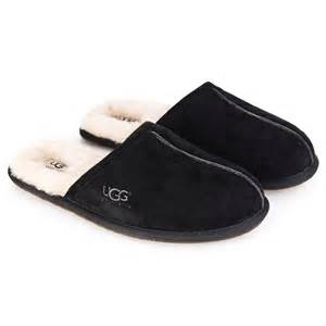 ugg s scuff slipper on sale ugg mens scuff mens slipper black suede