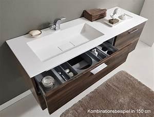 Waschtischunterschrank 120 Cm : puris milano waschtischunterschrank 120 x 47 x 48 cm mit 4 ausz gen rechte version ~ Markanthonyermac.com Haus und Dekorationen