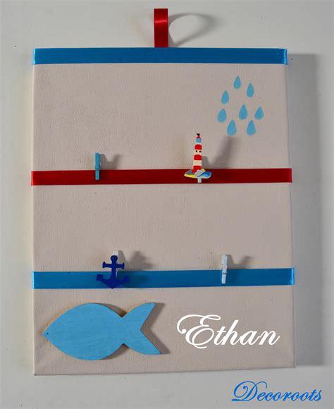 pele mele chambre garcon pêle mêle enfant bébé garçon thème mer beige bleu