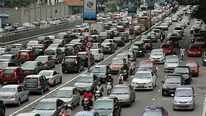 Kuala Lumpur - March 2012: Traffic Jam In City Center ...