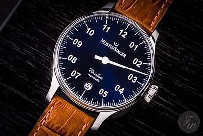 Meistersinger Circularis Automatic Watches Hands Luxury Sunburst