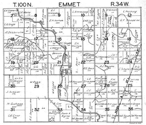 emmet county iowa maps