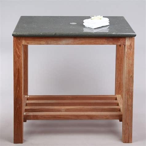 waschtisch mit steinplatte waschtisch untergestell unterschrank holz mit platte naturstein grau 80 45 76 cm ebay