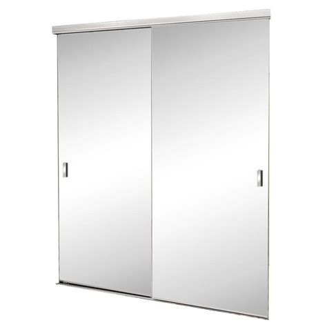 Beveled Mirror Closet Doors by 72 In X 80 In Trim Line Beveled Mirror Bright Clear