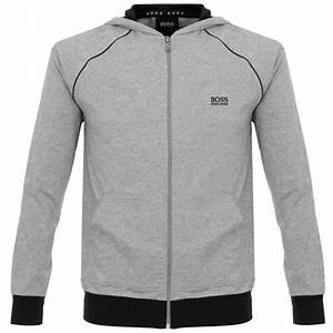 adcbe402c80 lyst boss hugo boss jacket hooded medium grey track top in gray for men
