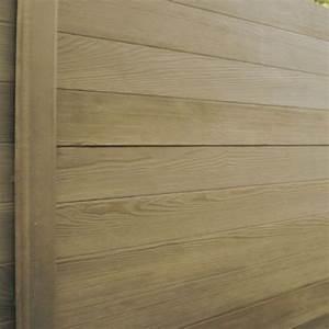 Cloture Beton Imitation Bois : cl ture en b ton imitation bois lames double face ~ Dailycaller-alerts.com Idées de Décoration