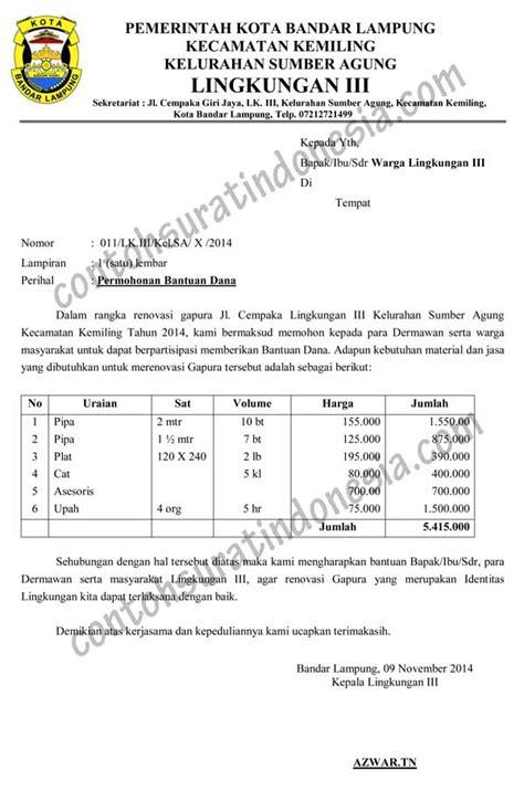 contoh surat bahasa indonesia lengkap referensi surat