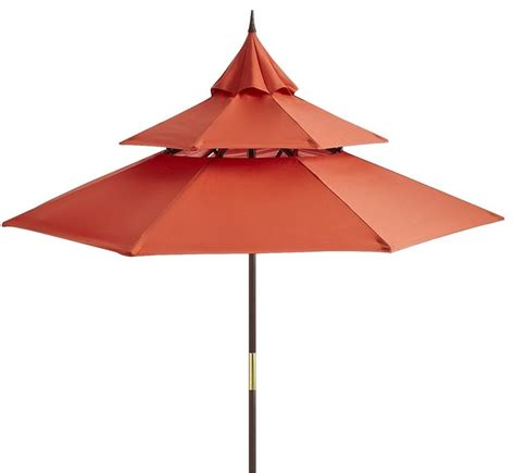 Pagoda Style Patio Umbrella by Chili Pagoda Umbrella Contemporary Outdoor Umbrellas