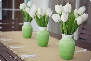 Dollar Store Ombre Vases - Living Well Spending Less®
