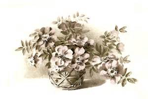 Vintage Flower Basket Clip Art Free