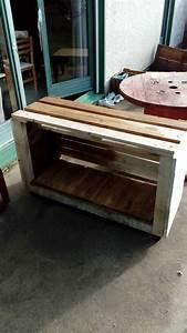 meuble tv en palettes pallet tv stand o 1001 pallets With meuble en palette