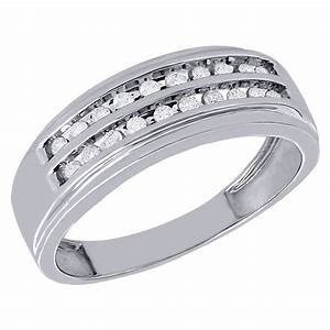 10k white gold mens diamond wedding band 8mm channel set With white gold diamond wedding rings