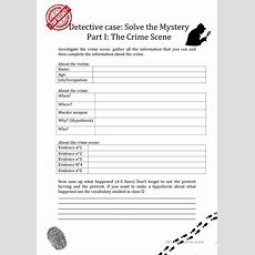 Crime Scene Investigation Worksheet  Free Esl Printable Worksheets Made By Teachers