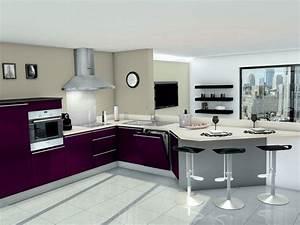 idee modele cuisine equipee en u With idee modele cuisine
