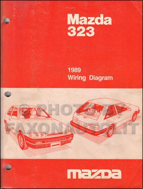 88 Mazda 323 Wiring Diagram by 1989 Mazda 323 Repair Shop Manual Original