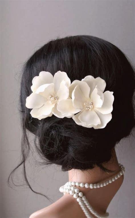 wedding hair accessories bridal ivory cream magnolia