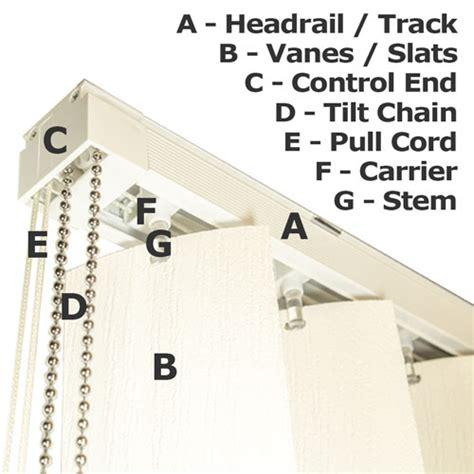 blind parts vertical blind diagram going vertical