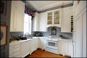 kitchens contemporary with white cabinets and 2017 colors With kitchen colors with white cabinets with blue and brown wall art