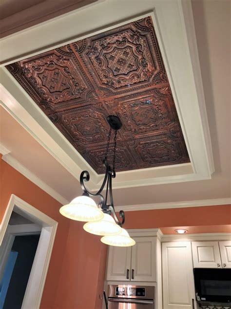 Fiberglass Ceiling Tiles 24x24 by Elizabethan Shield Faux Tin Ceiling Tile 24 X24