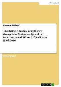 Umsetzung Eines Tax Compliance Management Systems Aufgrund