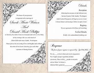 diy wedding invitation template set editable word file With wedding invitation templates in word format