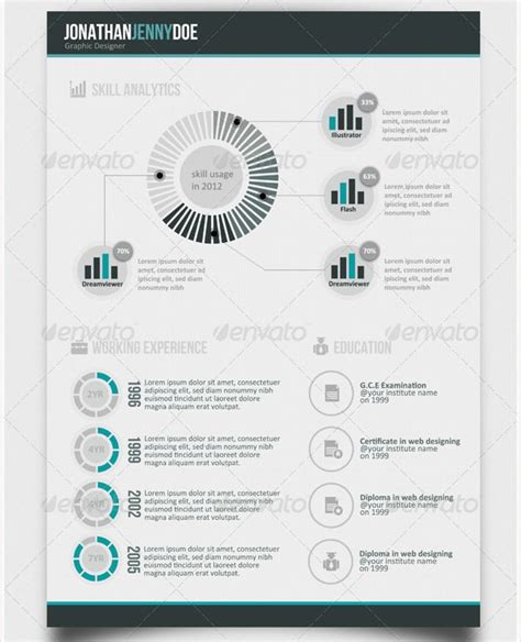 28 infographic resume template free 35 infographic