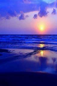 Beautiful Beach Sunset Blue