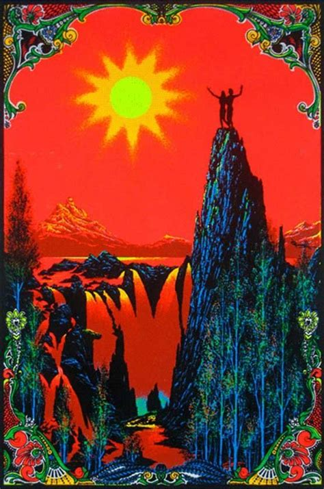 Trippy Blacklight Posters From The Psychedelic Heyday