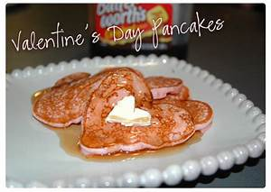 "Valentine's Day Breakfast ""Pink Heart Pancakes"" | Happy ..."