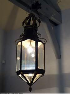 Grande Lanterne Deco : grande lanterne couronn e en fer forg patin et dor xxe si cle ~ Teatrodelosmanantiales.com Idées de Décoration