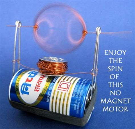 Easy Electric Motor by Easy Cool Science Experiments For Hative