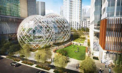siege en forme de amazon soffre un siège social futuriste et écolo en bulles
