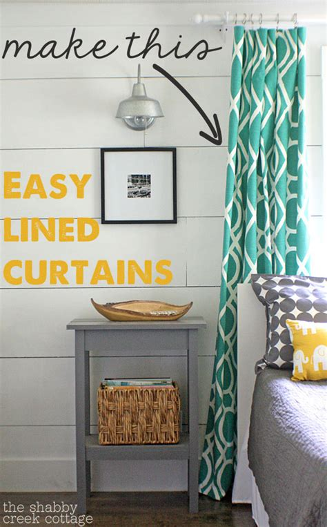 the easiest way to make your own lined curtains and the