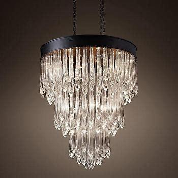 tallis teardrop chandelier  bronze
