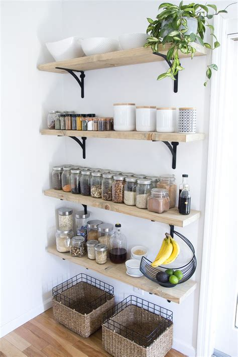 tips  creating successful open shelving   pantry