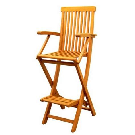 bar height wood folding chair royal tahiti patio
