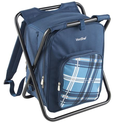 Stool Backpack - vonshef 2 in 1 picnic backpack stool hiking cing