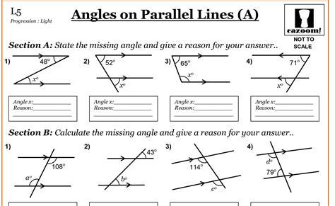 cuisine parall鑞e parallel lines worksheet photos roostanama