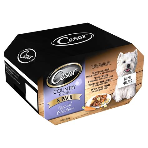 country kitchen treats cesar country kitchen food 8 x 150g food b m 6058