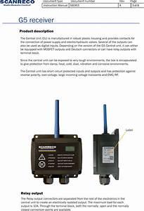 Scanreco G5cur 2 4 Ghz Transceiver User Manual