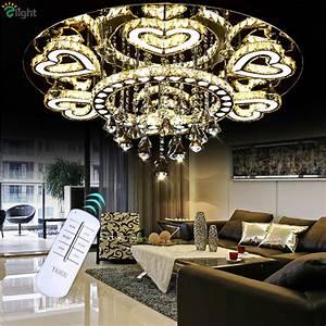 Moderne Kronleuchter Chrom : luxury modern lustre de cristal ceiling led chrome chandelier mirror steel romantic acrylic ~ Indierocktalk.com Haus und Dekorationen