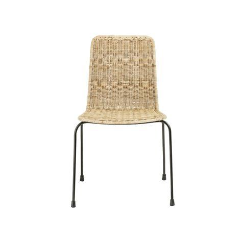 chaise en rotin zia maisons du monde