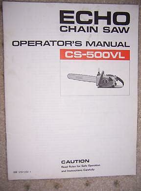 echo cs vl power chain  manual tool machine  ebay