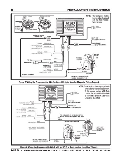 Msd 6al 6420 Wiring Diagram 90 95 by Msd 6al 6420 Wiring Diagram For Optispark Distributor