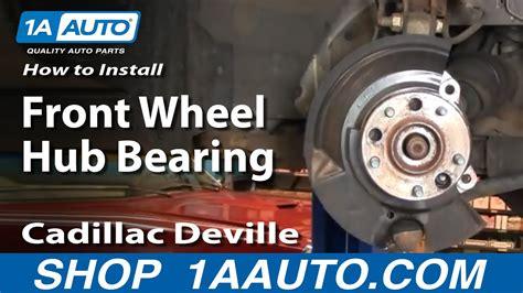 install replace front wheel hub bearing cadillac