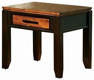 steve silver abaco 24 inch square end table in acacia With 24 inch square coffee table
