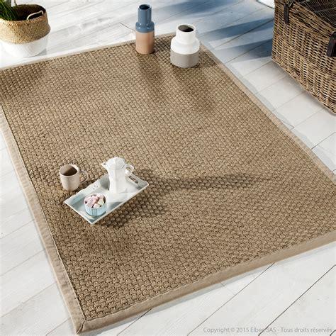 canapé jonc de mer tapis jonc de mer tissage large avec ganse en coton